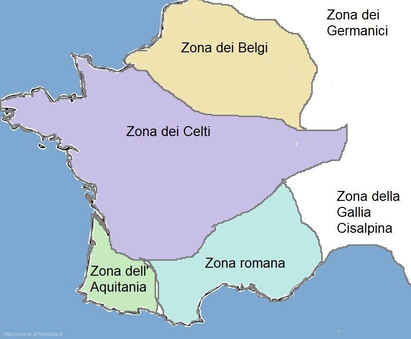 Mappa concettuale Gallia