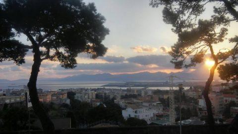 Tramonto Cagliari sul mare 2