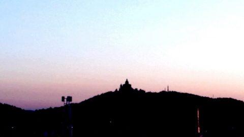 San Luca panorama la sera a Bologna